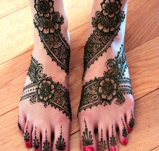Mehndi designs 2016 for feet (8)