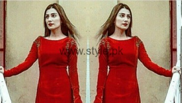 Ayeza Khan In Red Gown