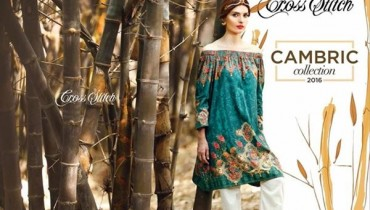 Cross Stitch Cambric Dresses 2016 For Women