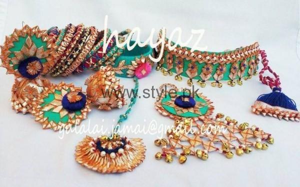 Flower Jewellery For Mehndi Uk : Latest bridal mehndi jewellery