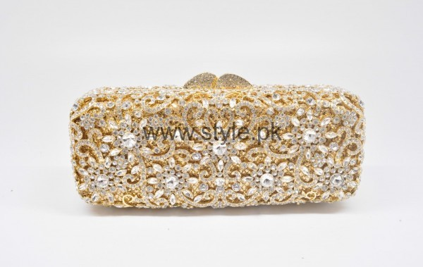 Latest Golden Bridal Clutches 2016 (14)