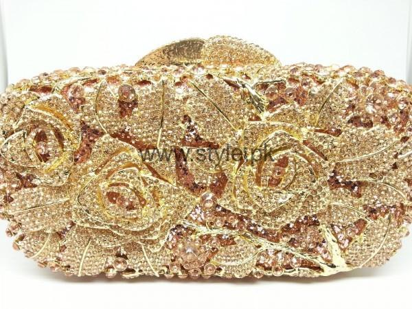 Latest Golden Bridal Clutches 2016 (15)