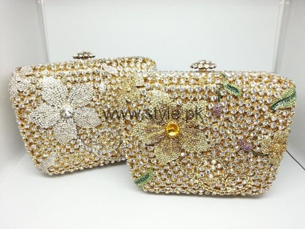 Latest Golden Bridal Clutches 2016 (2)