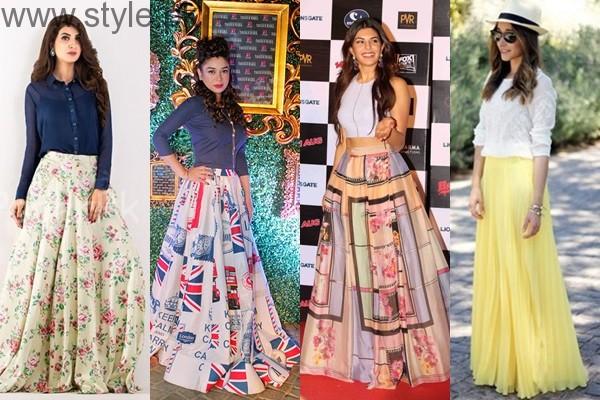 Latest Pakistani Skirts 2017