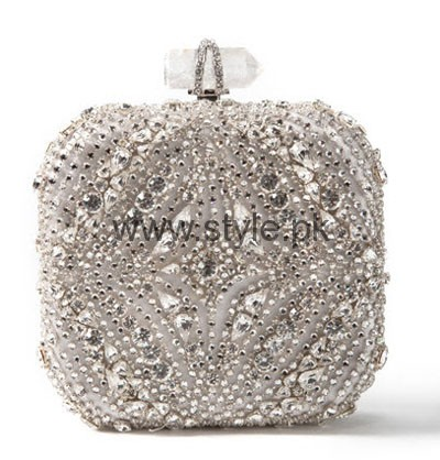 See Latest Silver Bridal Clutches 2016