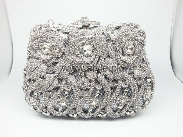 Latest Silver Bridal Clutches 2016 (8)