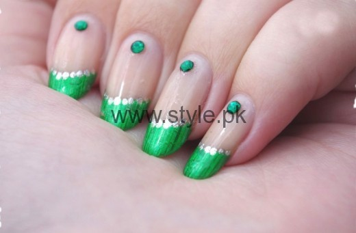 Nail Art Ideas 2016 for Pakistan's Independence Day (2)