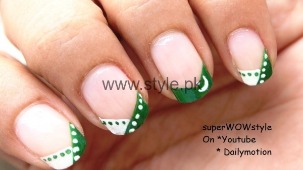 Nail Art Ideas 2016 for Pakistan's Independence Day (6)