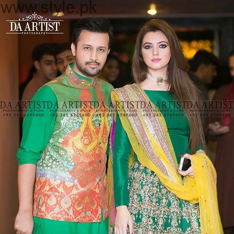 Recent Picture Of Atif Aslam With His Wife