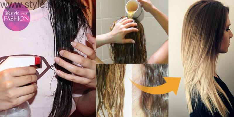 Bleach hair using natural ingredients
