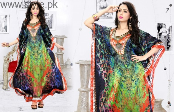 Latest Pakistani Kaftan Dresses 2017 For Girls