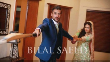 Mohammad Amir and Wife Narjis Walima Photoshoot