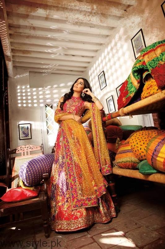 Bridal Dress by Pakistani Model Maya Ali