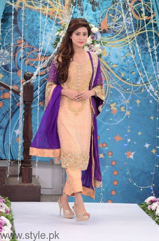Formal Dresses in Nida Yasir Show