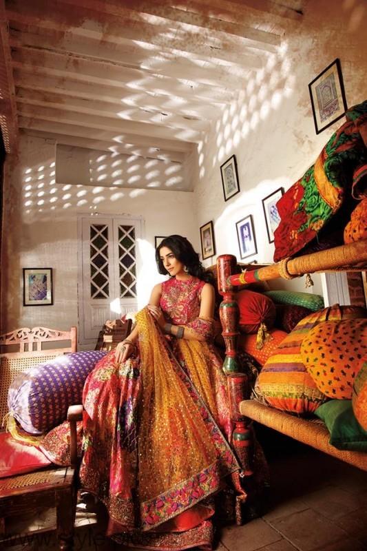 Maya Ali Pictures For Nomi Ansari Bridal Photoshoot
