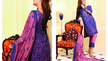 Nomi Ansari Embroidered Chiffon Dresses 2016 For Women0010