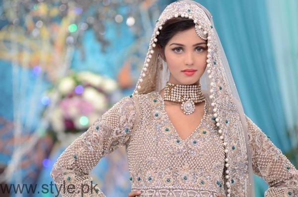 Silver Bridal Dresses in Good Morning Pakistan