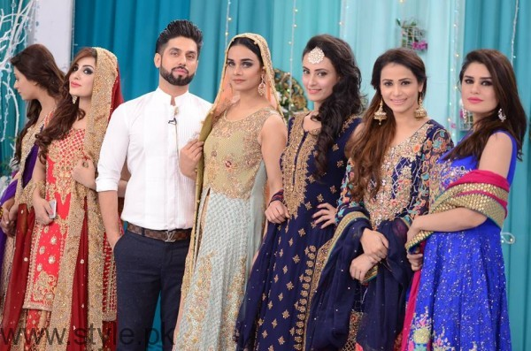 Trendy Bridal & Formal Dresses at Nida Yasir's Good Morning Pakistan