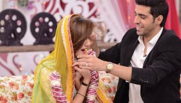 Furqan Qureshi with his Wife Sabrina in Good Morning Pakistan (10)