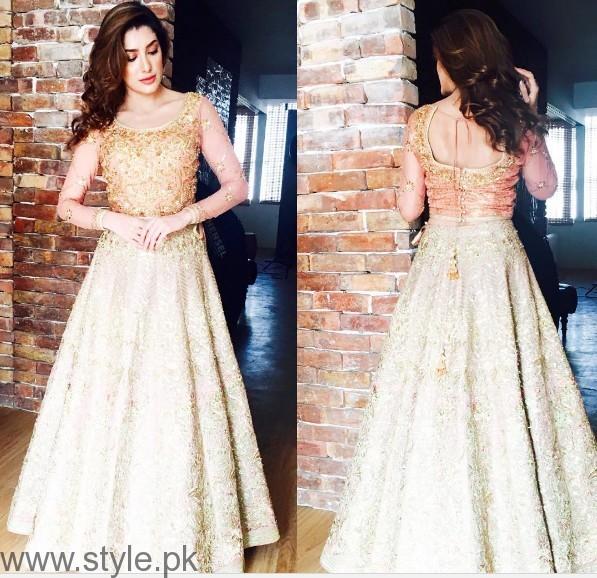 Pakistani Golden Party Wear Dresses
