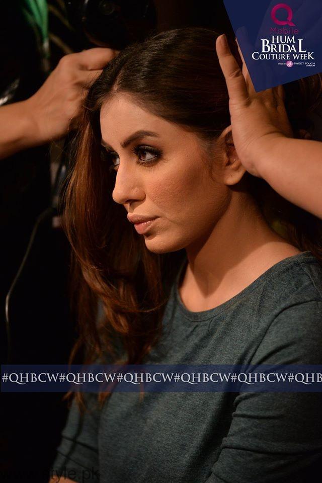 Sadia Faisal - Backstage Bridal Couture Week
