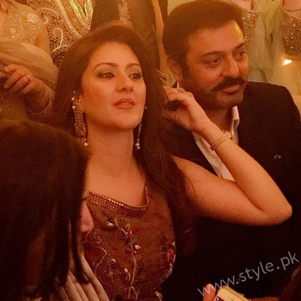 Nauman Ejaz and Wife at Urwa Farhan Wedding