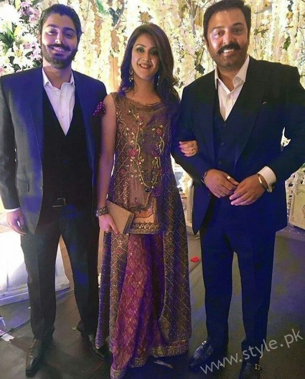 Mr and Mrs Nauman Ejaz with Son