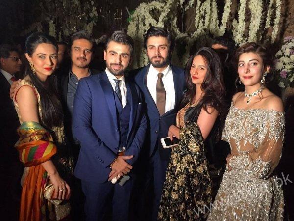 Fawad Afzal Khan with Wife at Urwa Farhan Wedding