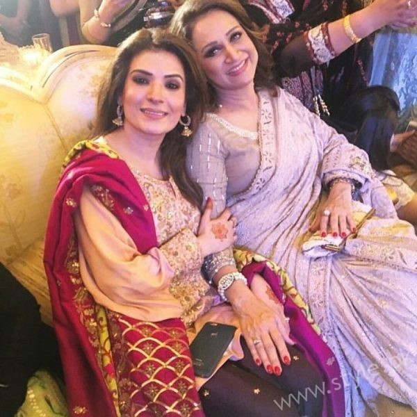 Actress Resham and Bushra Ansari at Urwa Hocane and Farhan Saeed Wedding