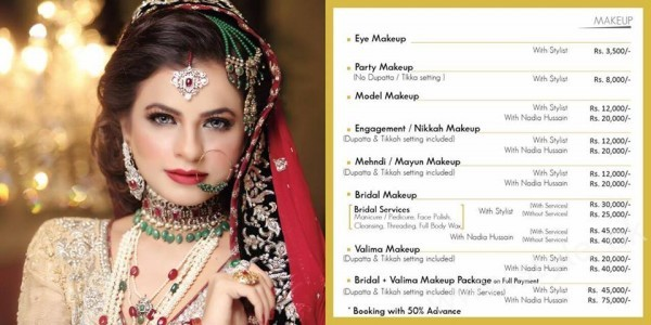 Charges Of Nadia Hussain Makeup