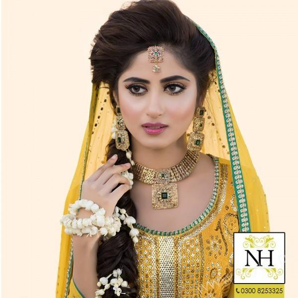Sajal Ali in exclusive Mayun look
