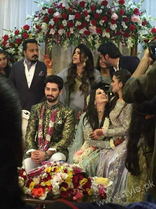 Aiman Khan Muneeb Butt Photoshoot on Engagement (1)