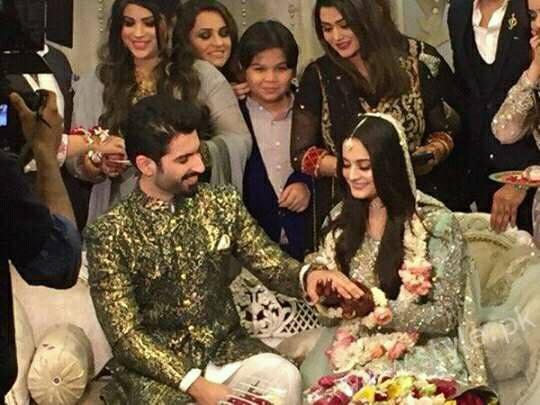 Aiman Khan Muneeb Butt Photoshoot on Engagement (3)