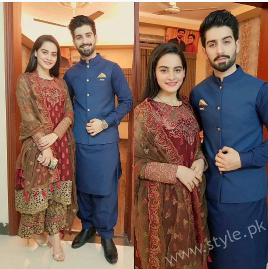 Aiman Khan and Muneeb Butt on their Dholki