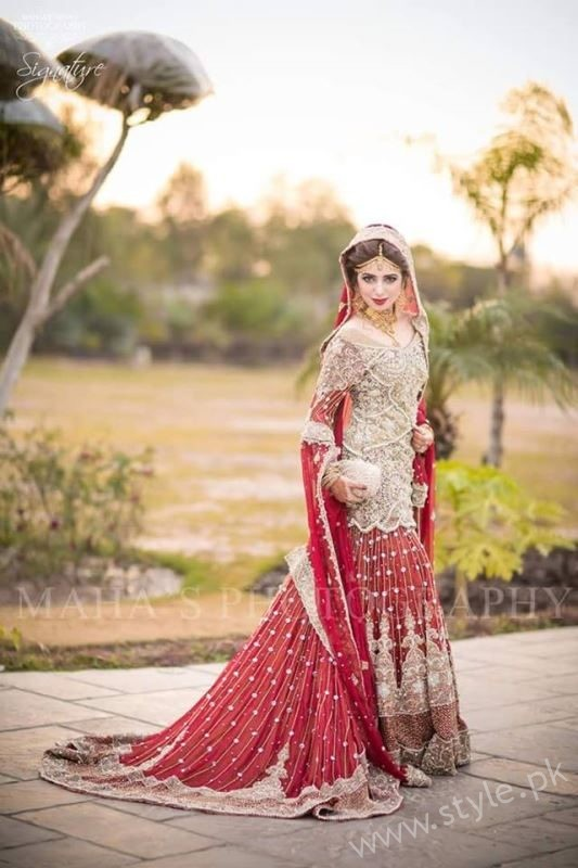 stylish pakistani dresses for wedding 2017