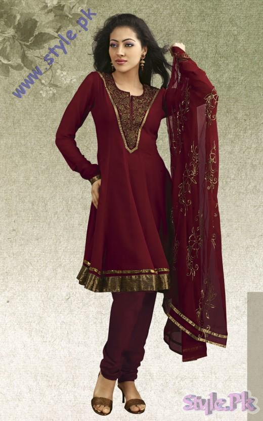 Anarkali Style Eid Wear Churidar Salwar Kameez 520x832 fashion trends