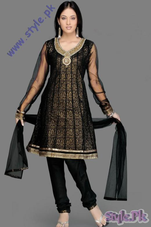 Beautiful Black Churidar Eid Salwar Kameez for Girls 520x780 fashion trends