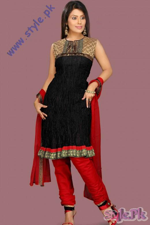 Churidar Red and Black Salwar Kameez for Eid 520x780 fashion trends