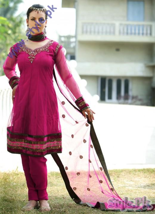 Eid Wear Churidar Plus Sizes Salwar kameez for Indian Girls 520x715 fashion trends