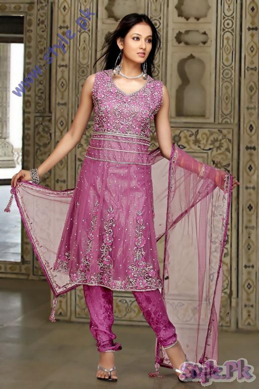 Fresh Light Purple Net Churidar Kameez for Eid 520x780 fashion trends
