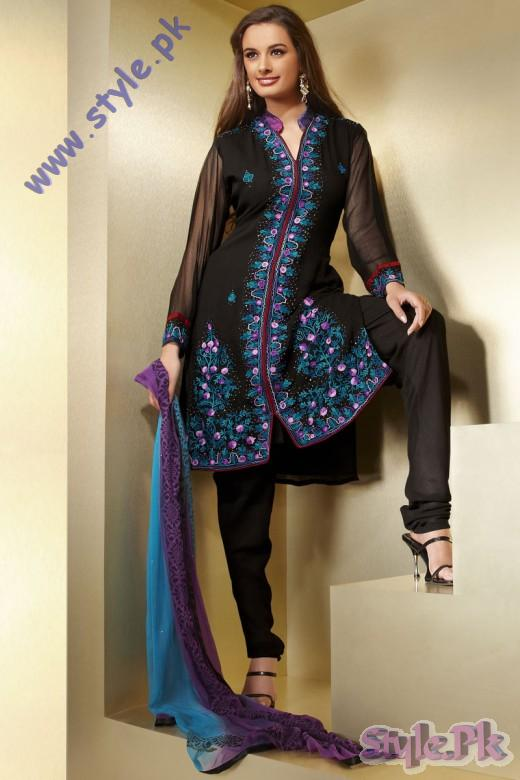Indian Black Diwali Churidar Salwar Kameez 2010 520x780 fashion trends