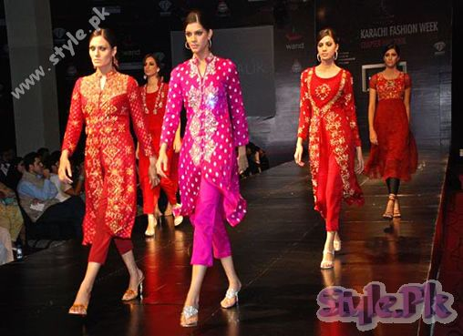Models On Ramp Islamabad Fashion Week 2011 shows