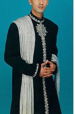Beautiful Black Sherwani For Men by Nawab Sons sherwani and gowns men wear