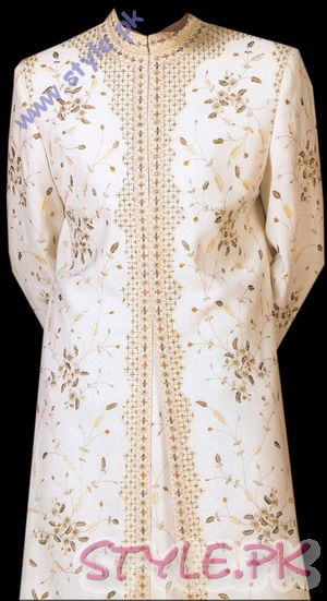 Beautiful Embroidery Work On Silk Sherwani sherwani and gowns men wear