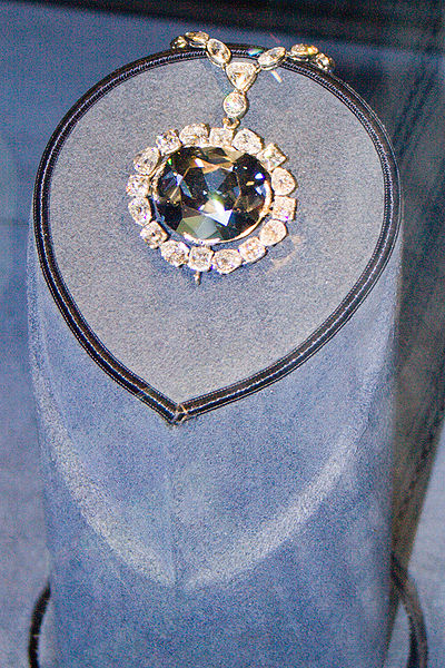 Hope Diamond in the Smithsonian Museum of Natural History