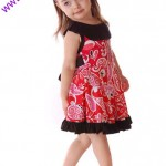 3 little girl red dress