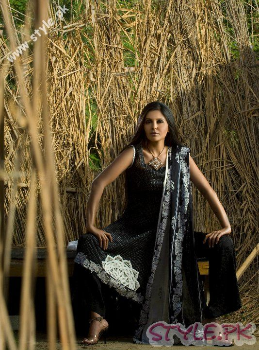 Black Lawn Dress by Sitara Premium fashion brands