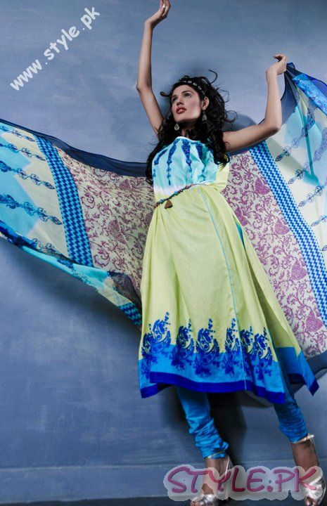 Blissful Blue Dress For Girls by Shamaeel fashion brands