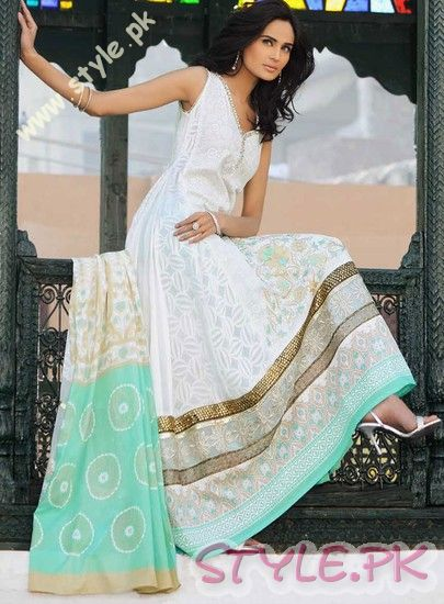 Embroidered Lawn Collection 2011 by Gul Ahmed fashion brands