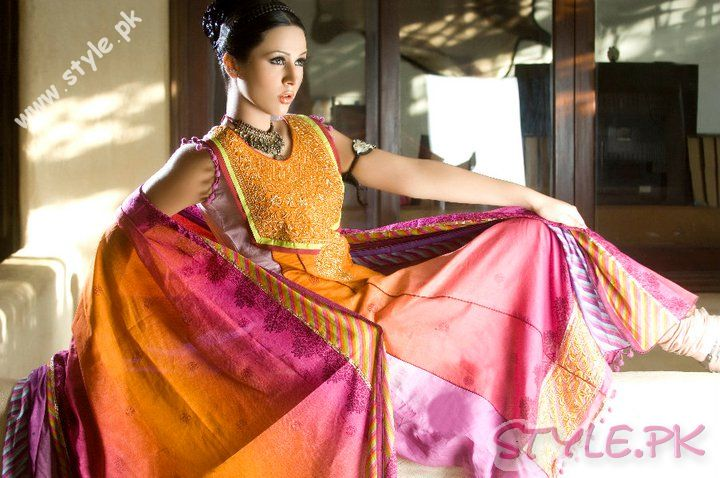 Embroidery Work on Lawn Dress by Sitara Premium Lawn fashion brands